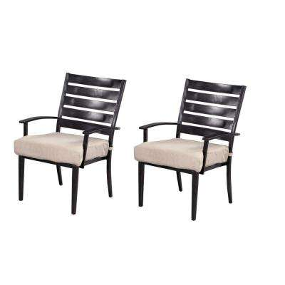 Marshall Patio Dining Chair with Cushion Insert (2-Pack) (Slipcovers Sold Separately)