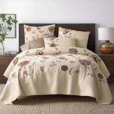 Gatehouse Floral Cotton Blend Quilt
