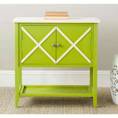 Polly Lime Green And White Buffet With Storage