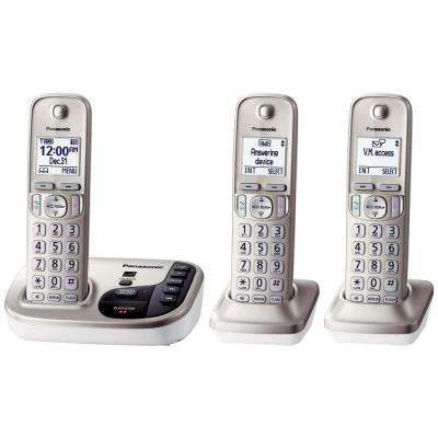 3-Handset Expandable Digital Cordless Answering System