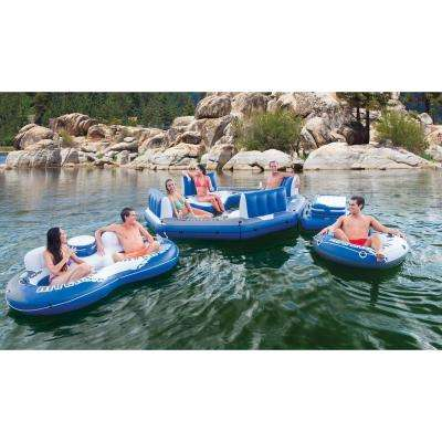 Inflatable Pacific Paradise 4-Person Relaxation Station Lounge Lake and Pool Raft