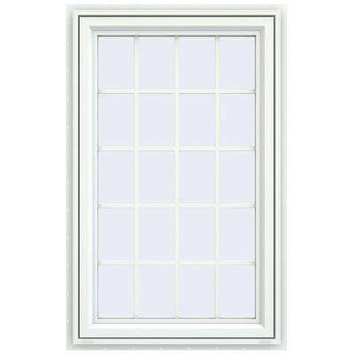 23.5 in. x 35.5 in. V-4500 Series Right-Hand Casement Vinyl Window with Grids - White