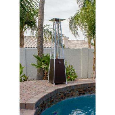 40,000 BTU Quartz Glass Tube Hammered Bronze Propane Patio Heater