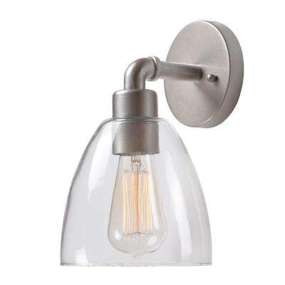 Steam Fitter 1-Light Silver Sconce