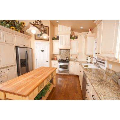 5 ft. L x 3 ft. D x 3 in. T Butcher Block Countertop in Finished Maple