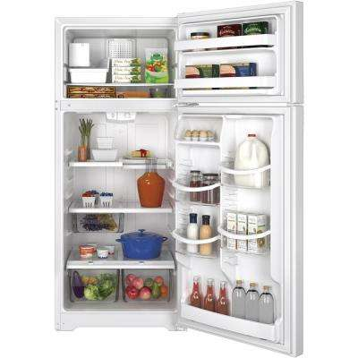 17.6 cu. ft. Top Freezer Refrigerator in White with Icemaker