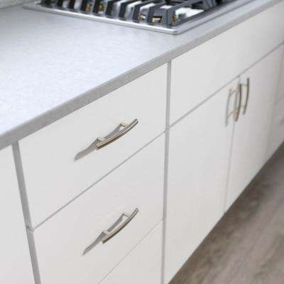 Arched 3 in. (76mm) Center-to-Center Satin Nickel Drawer Pull