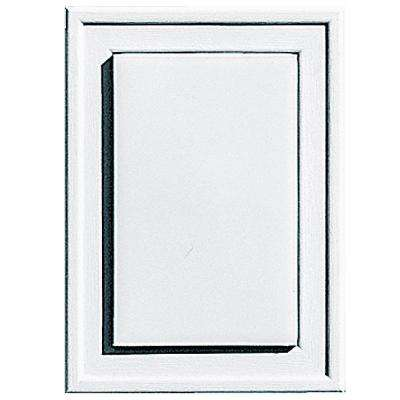 4.5 in. x 6.3125 in. #001 White Raised Mini Mounting Block