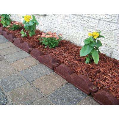20 ft. 12 in. Pieces Cedar Red Rubber Edging