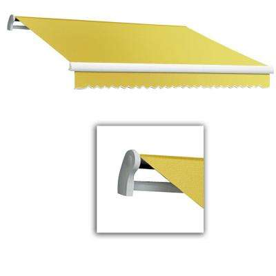 8 ft. Maui-LX Left Motor Retractable Acrylic Awning with Remote (84 in. Projection) in Yellow