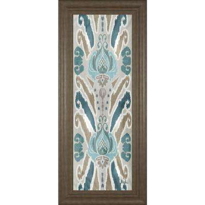 "18 in. x 42 in. ""A Touch of Flourish III"" by Patricia Pinto Framed Printed Wall Art"