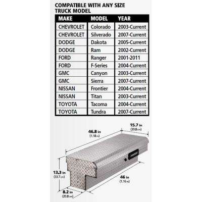 46.8 in. x 15.7 in. x 13.3 in. Aluminum Low Side Truck Box