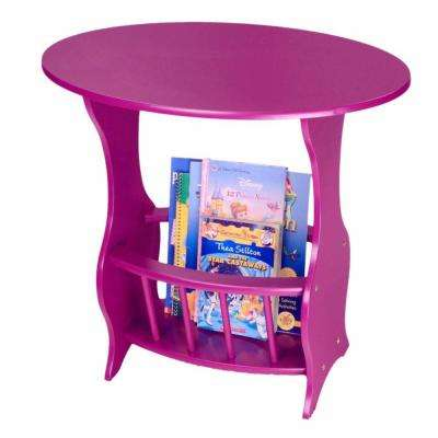 Home Craft Oval Purple Magazine End Table