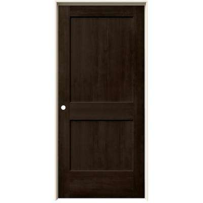 37.563 in. x 81.688 in. Stained Espresso Right-Hand 2-Panel Solid Core Composite Single Prehung Interior Door