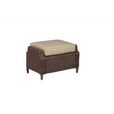 Vineyard Patio Ottoman with Meadow Cushion -- STOCK
