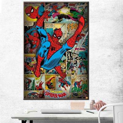 "24 in. x 36 in. ""Spider-Man - Panels"" Printed Canvas Wall Art"