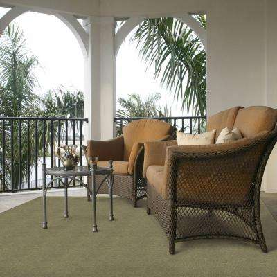 Ribbed Taupe 6 ft. x 8 ft. Indoor/Outdoor Area Rug