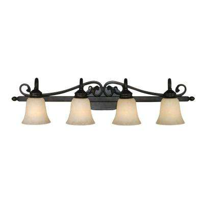 Zahir Collection 4-Light Rubbed Bronze Bath Vanity Light