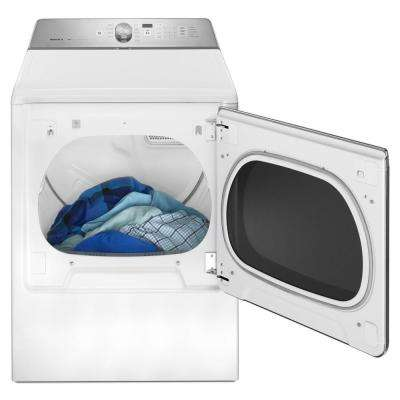 8.8 cu. ft. 240 Volt White Electric Vented Dryer with Advance Moisture Control, ENERGY STAR