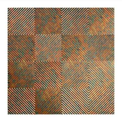 Quattro - 2 ft. x 2 ft. Lay-in Ceiling Tile in Copper Fantasy