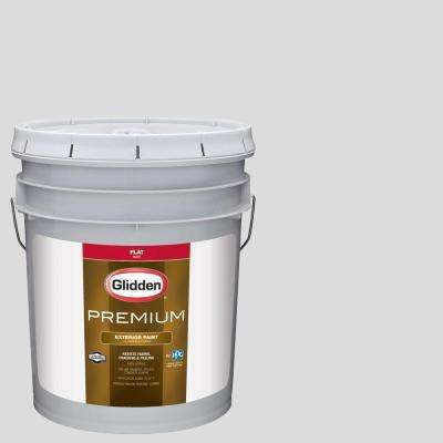 5-gal. #HDGCN61U Snowfield White Flat Latex Exterior Paint