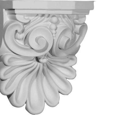 6-3/8 in. x 5-5/8 in. x 9 in. Polyurethane Quentin Shell Corbel
