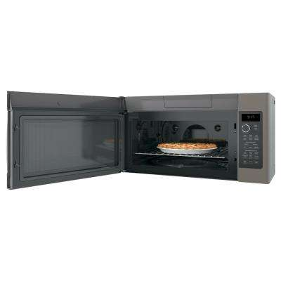 Profile 1.7 cu. ft. Over the Range Convection Microwave in Slate, Fingerprint Resistant