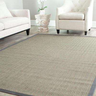 Natural Fiber Grey Brown/Grey 9 ft. x 12 ft. Area Rug