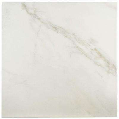 Donna Blanco 17-3/4 in. x 17-3/4 in. Ceramic Floor and Wall Tile (15.75 sq. ft. / case)