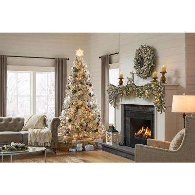 7.5 ft Starry Light Frasier Fir Flocked LED Pre-Lit Artificial Christmas Tree