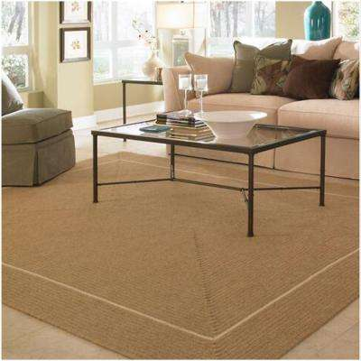 Natural Beige 10 ft. x 13 ft. Rectangle Braided Area Rug