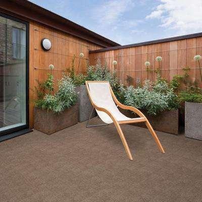 Peel and Stick Willingham Chestnut Pattern 18 in. x 18 in. Residential Carpet Tile (16 Tiles/Case)