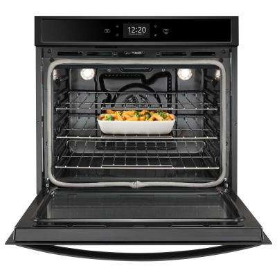 27 in. Smart Single Electric Wall Oven with True Convection Cooking in Black