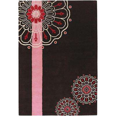Dharma Brown/Pink/White/Red 7 ft. 9 in. x 10 ft. 6 in. Indoor Area Rug