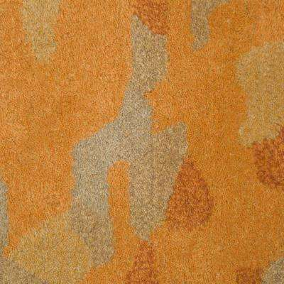 Watercolor Gold 3 ft. x 10 ft. Runner Rug