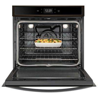 30 in. Smart Single Electric Wall Oven with True Convection Cooking in Fingerprint Resistant Black Stainless Steel
