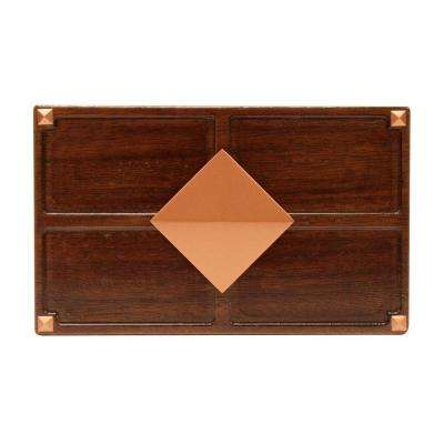Wireless or Wired Door Bell, Medium Red Oak Wood with Diamond Medallion