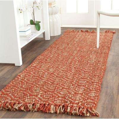 Natural Fiber Rust 3 ft. x 16 ft. Runner Rug