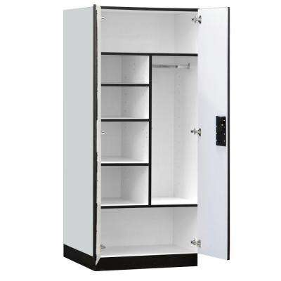 3200 Series 32 in. W x 76 in. H x 24 in. D Combination Wood Designer Storage Cabinet Assembled in Gray