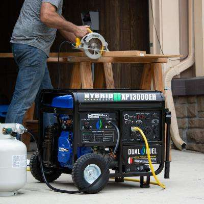 13000-Watt/10500-Watt Portable Hybrid Propane Gasoline Powered Push Button Start Generator