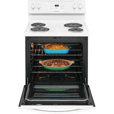 30 in. 5.3 cu. ft. Single Oven Electric Range with Self-Cleaning Oven in White