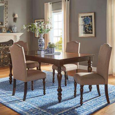 Madison 5-Piece Sand Beige Extendable Dining Set