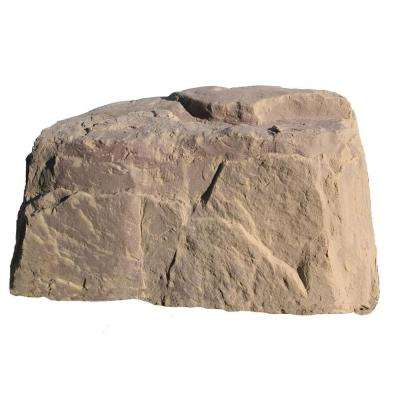 40 in. L x 24 in. W x 21 in. H Medium Plastic Rock, Sandstone Tan Granite
