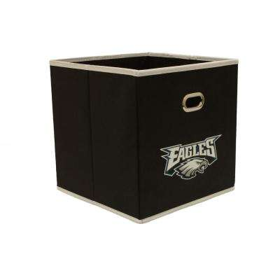 Philadelphia Eagles NFL Store-Its 10-1/2 in. W x 10-1/2 in. H x 11 in. D Black Fabric Drawer