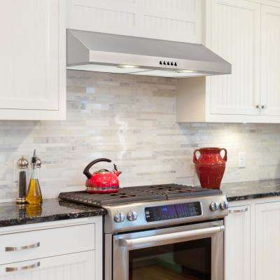 30 in. W Convertible Under Cabinet Range Hood with Charcoal Filter in Stainless Steel