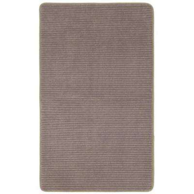 Taupe 20 in. x 32 in. Microdenier Polyester Memory Foam Bath Rug