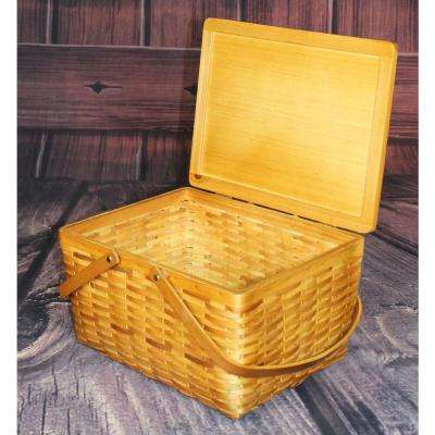 12.5 in. D x 7 in. H x 9.5 in. W Woodchip Basket - Small