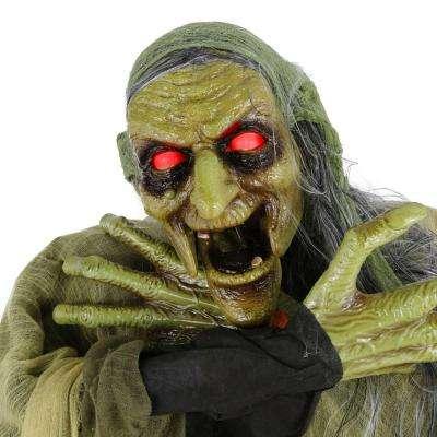 72 in. Animated Swamp-Witch With LED Illuminated Eyes