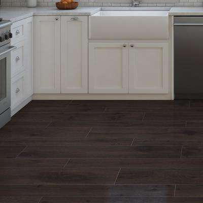 Rathwood Honeck Umber 7.5 in. x 47 in. Porcelain Floor Tile (14.99 sq. ft. / carton)