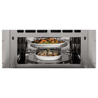 Profile 30 in. Single Electric Wall Oven with Advantium Cooking in Black Stainless Steel, Fingerprint Resistant